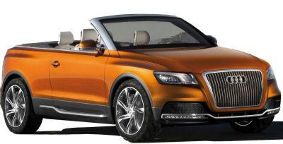 Présentation du concept-car <b>Audi Cross Cabriolet Quattro</b>, le premier SUV cabriolet de l'histoire de l'automobile. Présenté au salon automobile de Los Angeles 2007.